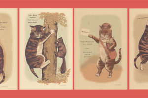 Charming Vintage-y Cat Art Prints