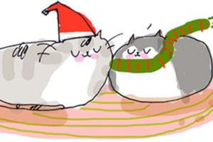 Can't Find a Decent Cat Xmas Card? Jamie Shelman Has You Covered.